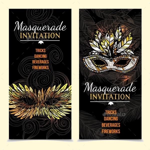 Masquerade Carnival Banner Invite