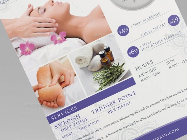 Massage Advertisement Flyer