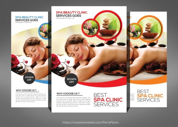 Massage Beauty Salon Flyer