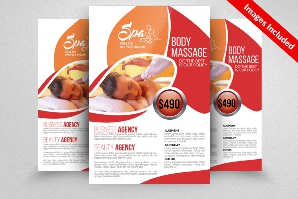Massage & Body Care Center Flyer