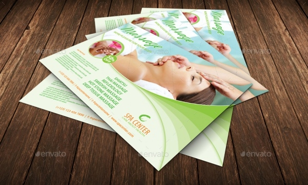 Massage Center Flyer Design Template