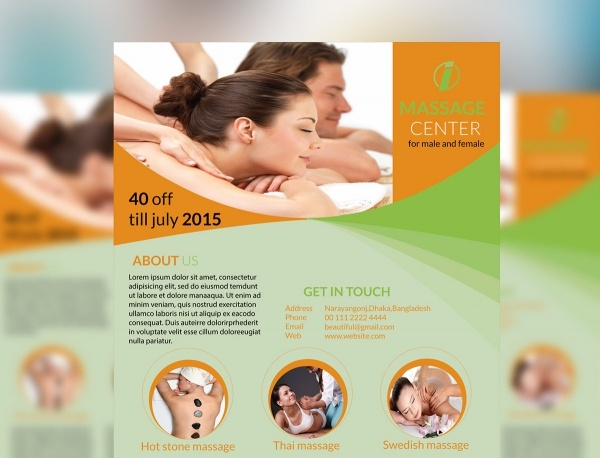Massage Promotion Flyer Design