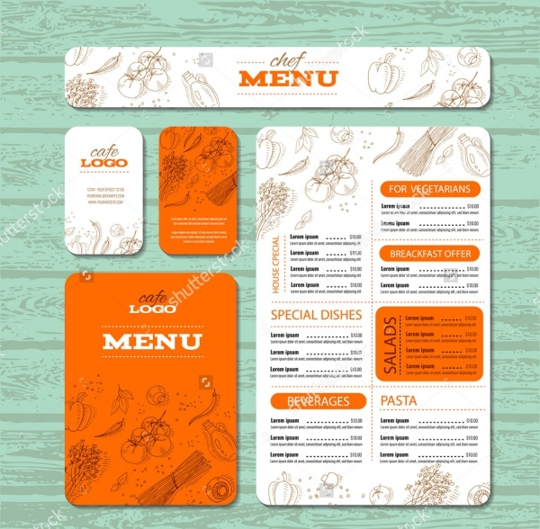 Menu Card Brochure Design