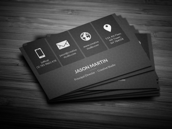 Metro Dark Corporate Business Card Design