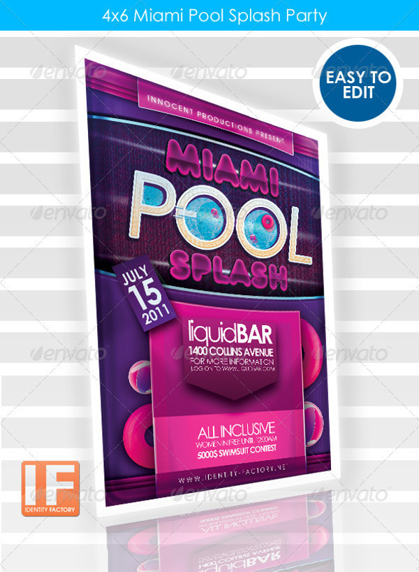 Miami Pool Party Flyer