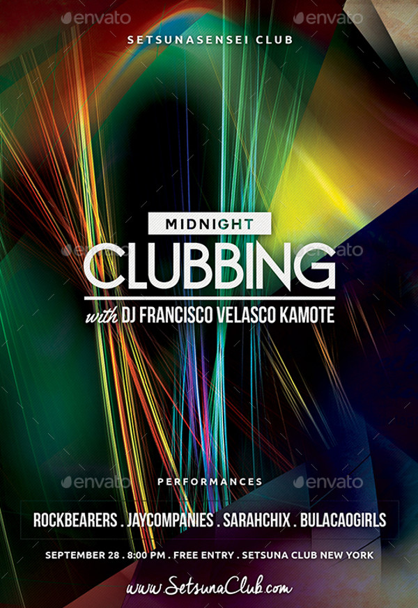 Midnight Clubbing Flyer Design