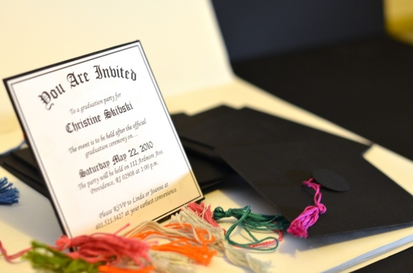 Mini Graduation Diploma Party Invite