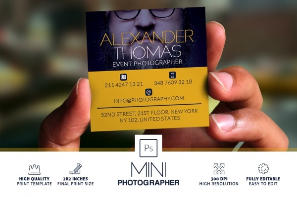 Mini Photographer Business Card