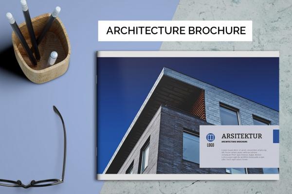 minimal architecture brochure design