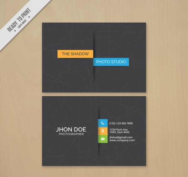 Minimal Style Business Card Photography