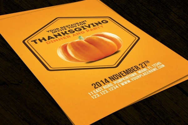 Minimal Thanksgiving Flyer
