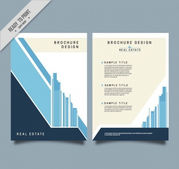Property Brochure Templates Vector EPS AI Illustrator Download - Property brochure template