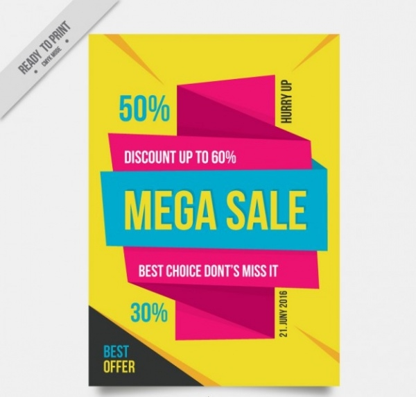 Modern & Abstract Sale Flyer Design