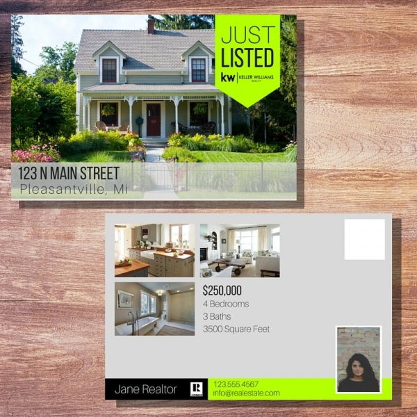 Modern Banner Real Estate Postcard