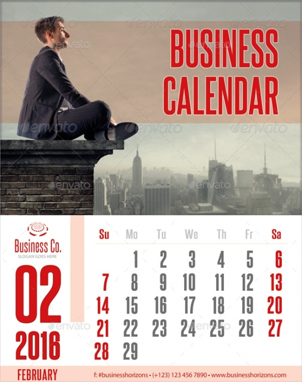 Modern Business Photo Calendar