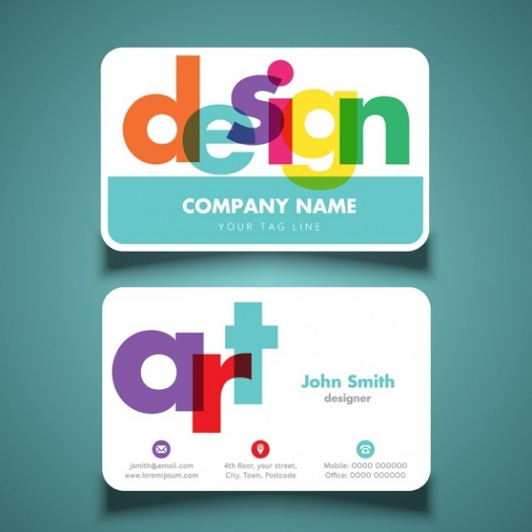 Modern & Colorful Business Card Design