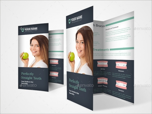 modern dental editable brochure