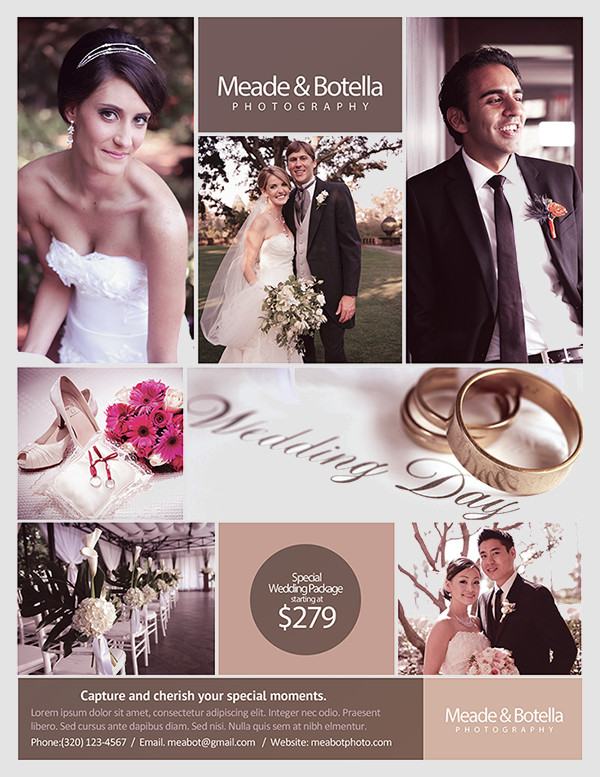 Modern Stylish Wedding Flyer