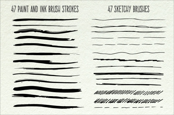 Multi-color Sketch Photoshop Action Brushes