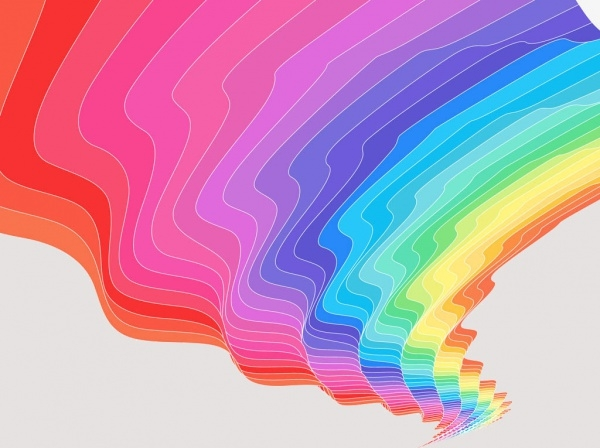 Multicolored Abstract Vector Rainbow