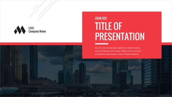 Multipurpose Executive Presentation Design