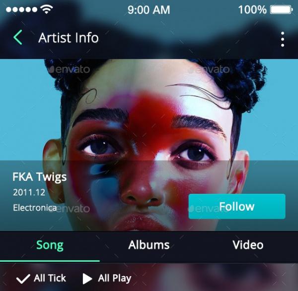 Music App Flat Design