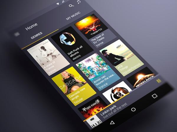Music App Material Design