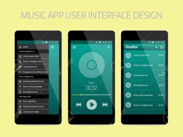Music App User Interface Design