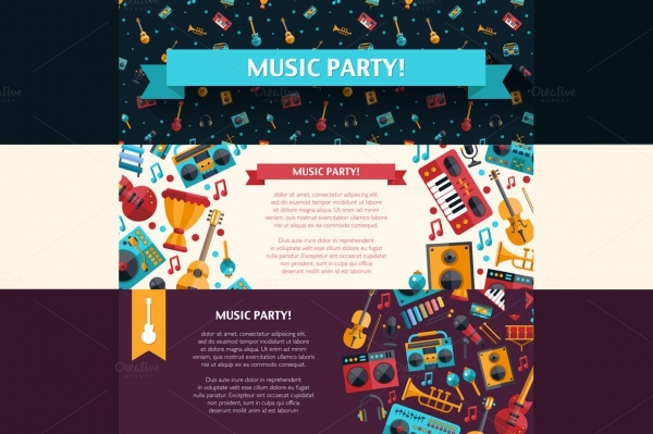 Music Party Banner Design