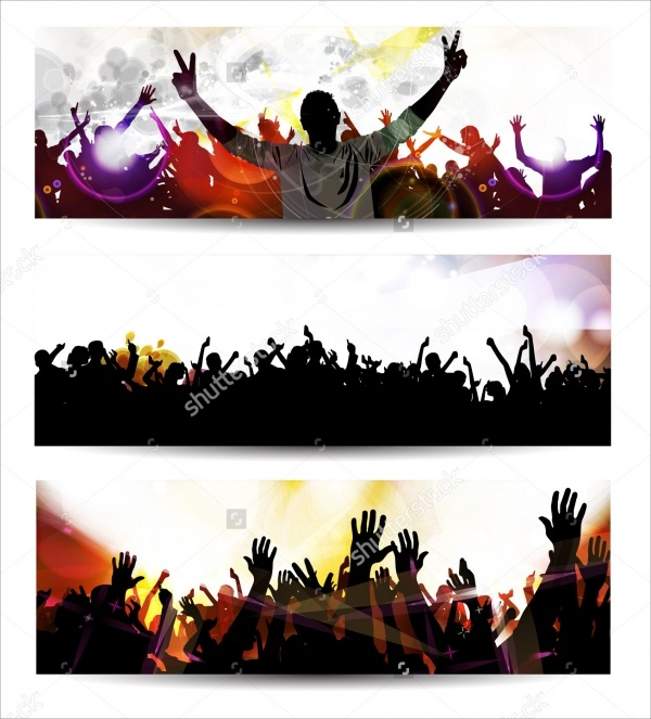 Music Party Event Banner Design