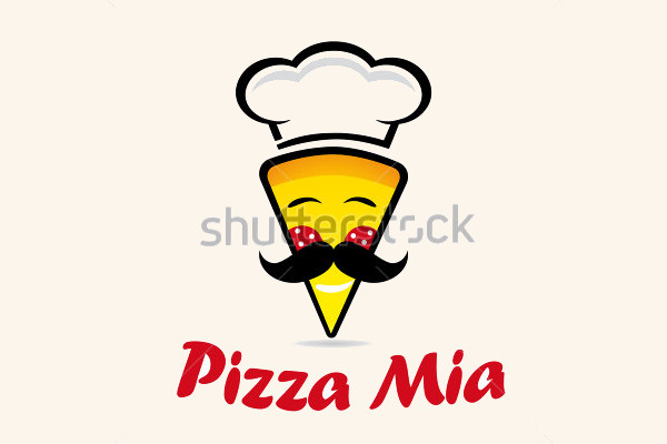 Mustache Logo for Pizza Restaurant