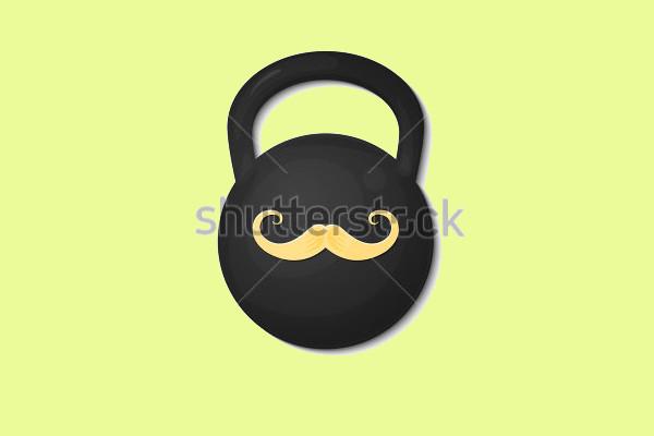 Mustache Vector Logo Design