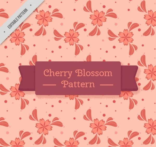 Natural Cherry Blossom Pattern