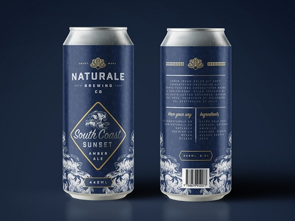 Naturale Brewing Can Product Packaging Design