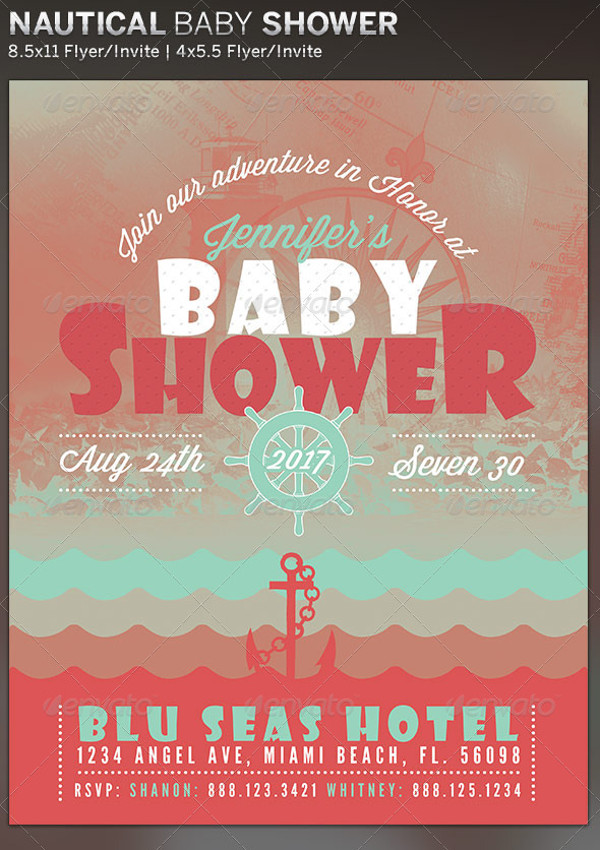 21 baby shower flyer templates psd ai illustrator download
