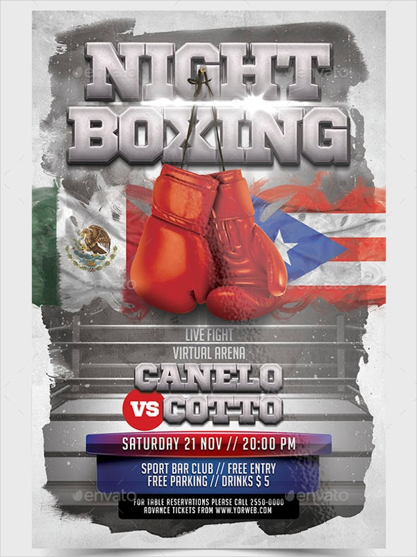 Night Boxing Flyer Design