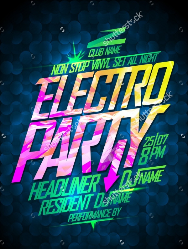 Non Stop Electro Club Party Flyer