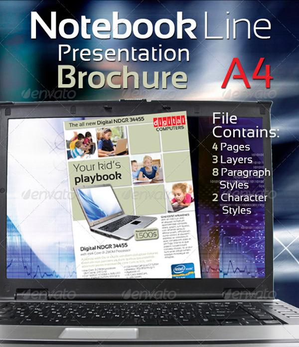 Notebook Line Presentation Brochure