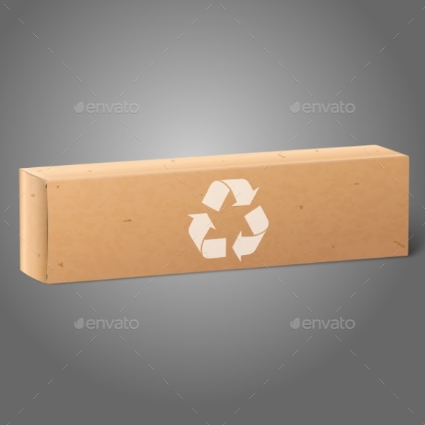Oblong Paper Package Box