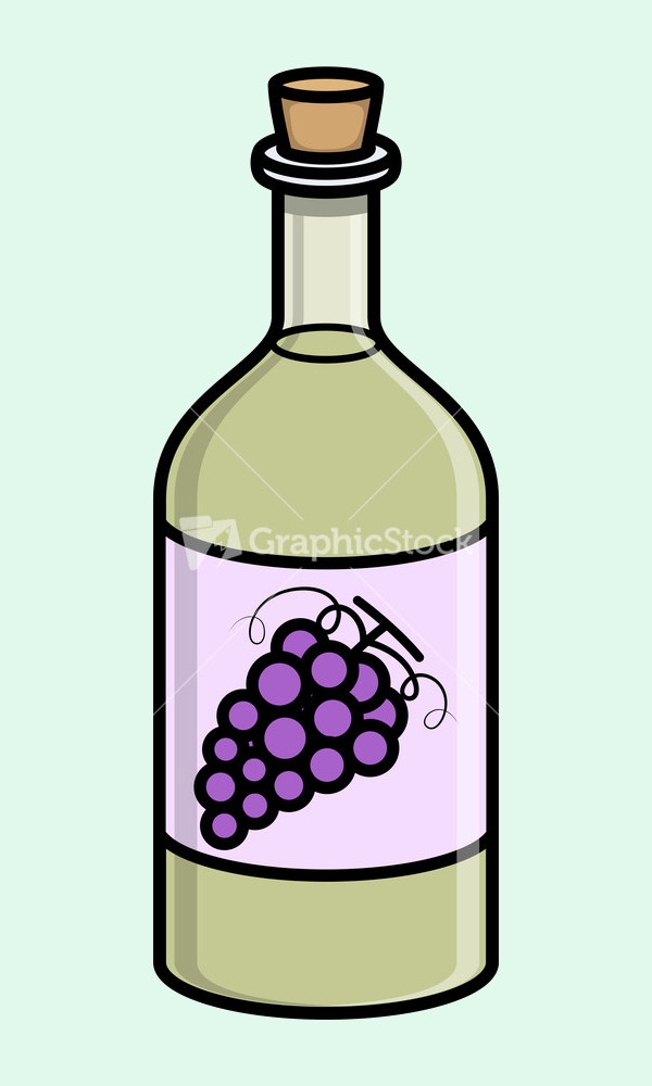 Old Cork Wine Bottle Vector