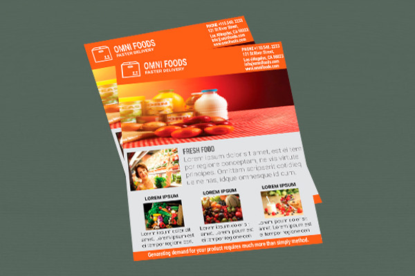 omni food catering flyer