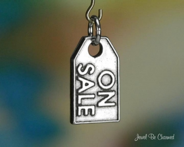 On Sale Tag Charm Sterling Silver