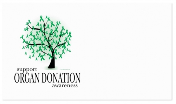 Organ Donation Tree Business Card