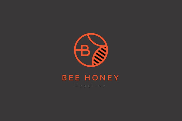 Outline Honey Vector Logo