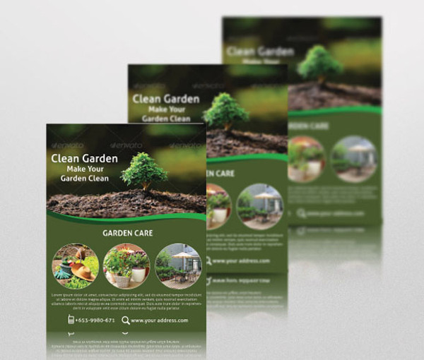 PSD Lawn Care Flyer Design