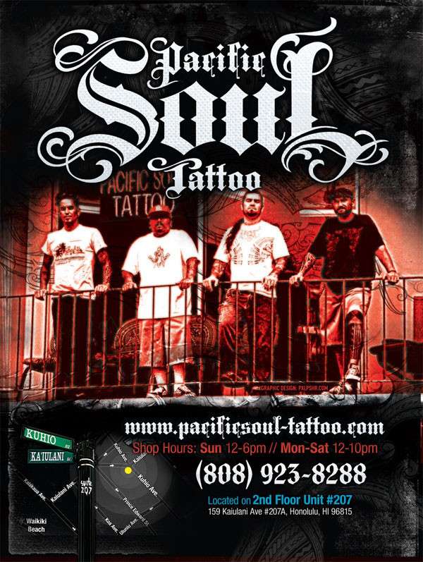 Pacific Soul Tattoo Flyer