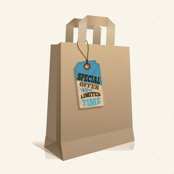 Paper Shopping Bag Tag Design