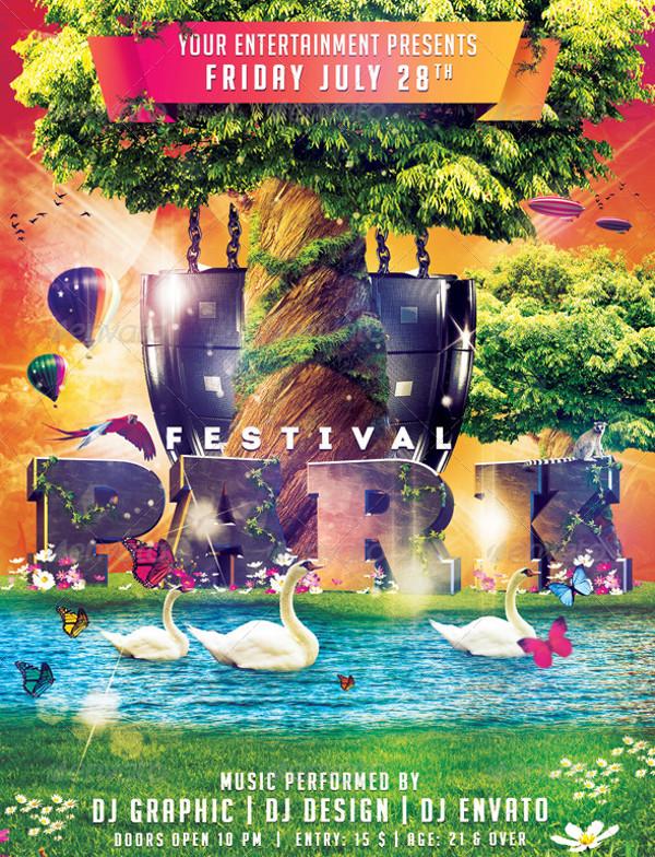 Park Festival Flyer Design