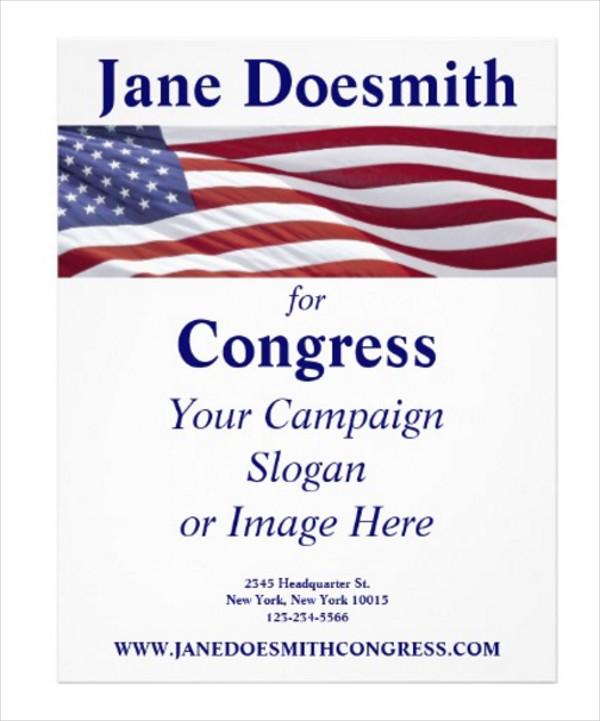 Patriotic Political Campaign Flyer