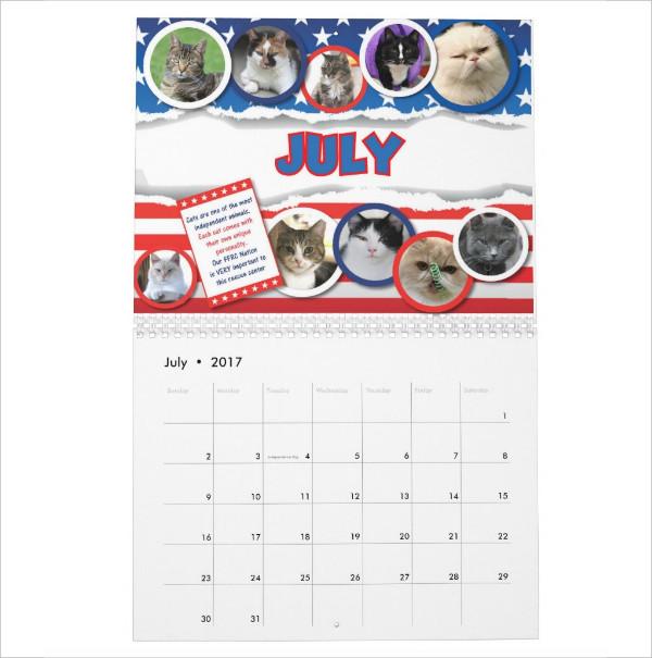 Pat's Pictures Desktop Calendar
